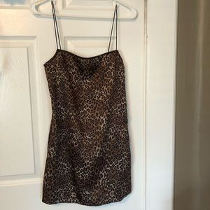 Danielle Guizio Silk Leopard Dress